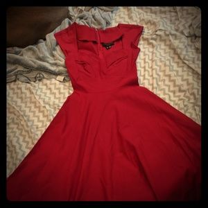 Siren Red Stop Staring Mad Style Swing Dress